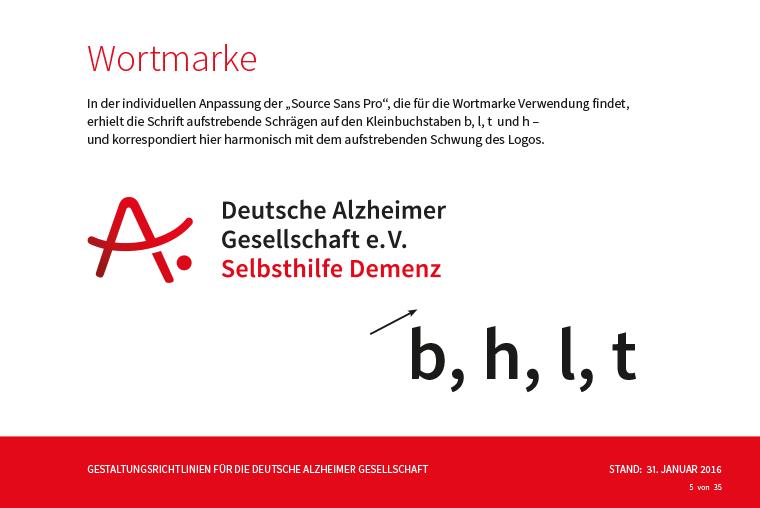Styleguide Für Die Deutsche Alzheimer Gesellschaft